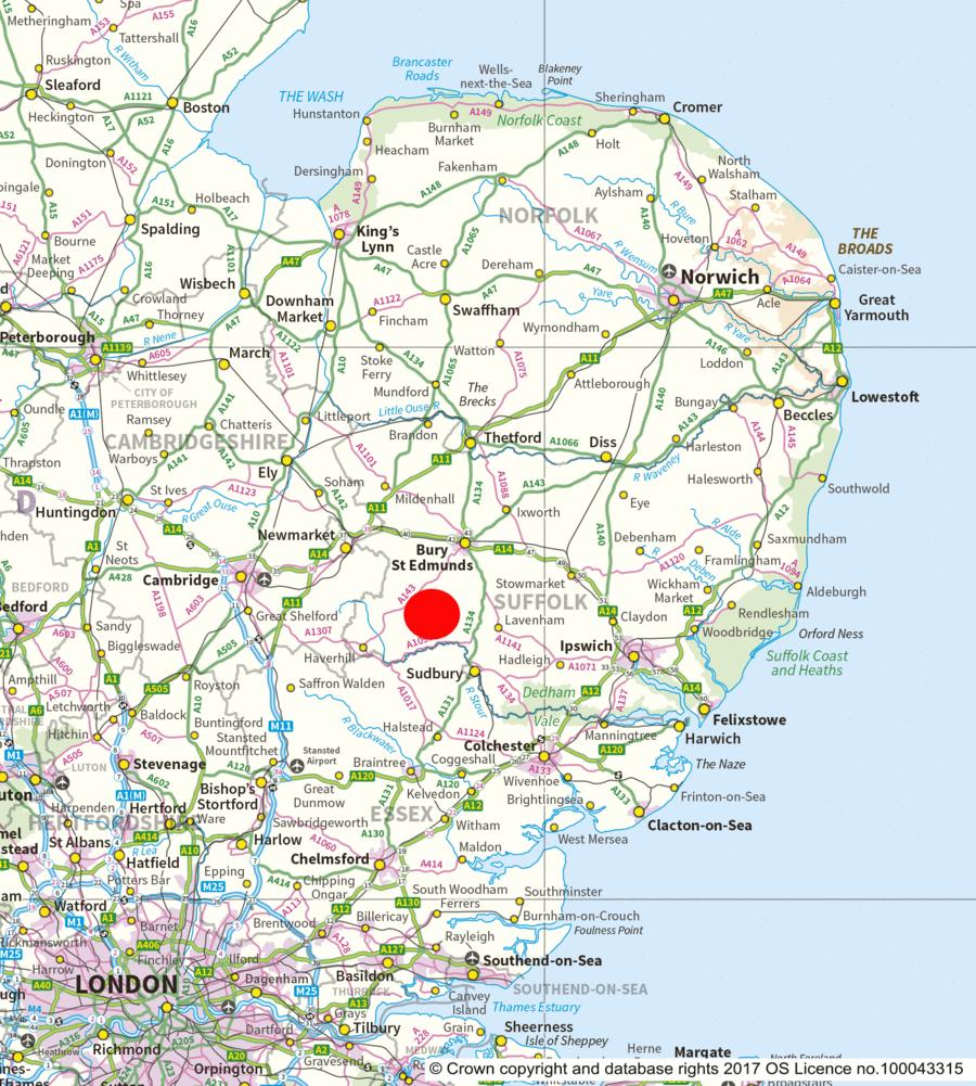 Bury St Edmunds Map Lark Wood, Whepstead, near Bury St Edmunds, Suffolk   East Anglia